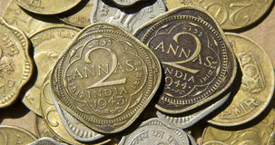 Stare Brytyjski India monety Obrazy Royalty Free