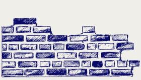 Stare cegły ilustracji