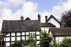 Stare chałupy w Cheshire Targowym miasteczku Sandbach Anglia Zdjęcia Stock