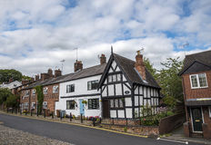 Stare chałupy w Cheshire Targowym miasteczku Sandbach Anglia Zdjęcie Stock