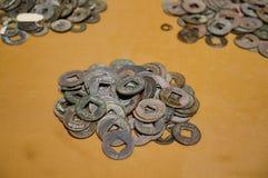 stare chińskie monety Zdjęcie Royalty Free