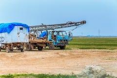 Stare ciężarówki w Irak fotografia stock