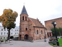 Stare czerwone cegły kościół, Lithuania fotografia royalty free