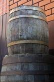 Stare dębowe wino baryłki Zdjęcie Royalty Free