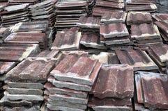 Stare dachowe płytki Obrazy Stock