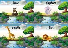 Stare degli animali selvatici del ponte illustrazione vettoriale
