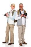Stare dei turisti invecchiato mezzo Fotografia Stock Libera da Diritti