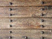 Stare deski i metali nity Obrazy Royalty Free