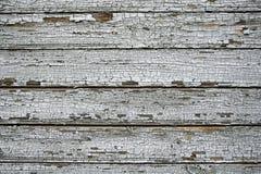 Stare deski z szarość pękającą farbą zdjęcia stock