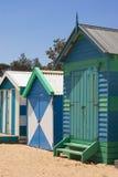 stare domy plażowi Zdjęcia Stock