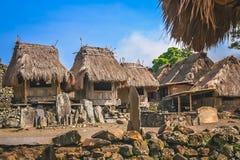 Stare drewniane budy w Bena wiosce Obrazy Stock