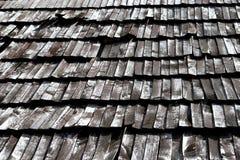Stare drewniane dachowe płytki Zdjęcia Royalty Free