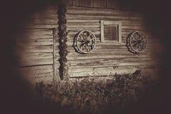 stare drewniane koła Zdjęcie Royalty Free