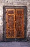 stare drzwi drewna Fotografia Royalty Free