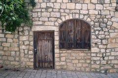Stare drzwi i okno żaluzje Obraz Stock