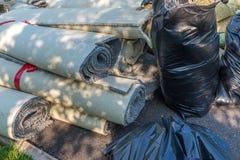 Stare dywan rolki obrazy stock