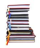 Stare dzienniczek książki na białym tle Zdjęcie Royalty Free