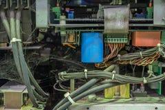 Stare elektronika w narzędzia fotografia stock