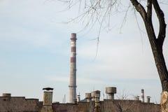 Stare fabryk drymby zdjęcie stock