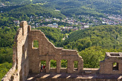 Stare Grodowe ruiny, baden-Baden Fotografia Royalty Free