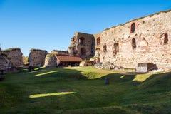 Stare grodowe ruiny Bauska miasteczko, Latvia Obraz Stock