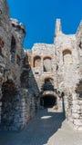 Stare grodowe ruiny Ogrodzieniec Zdjęcie Royalty Free
