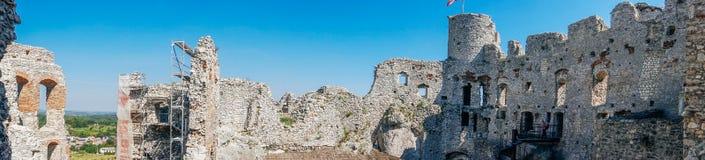 Stare grodowe ruiny Ogrodzieniec Zdjęcia Stock