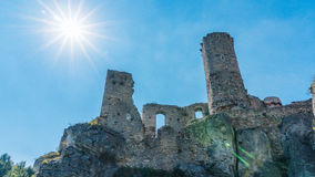 Stare grodowe ruiny Ogrodzieniec Obraz Stock