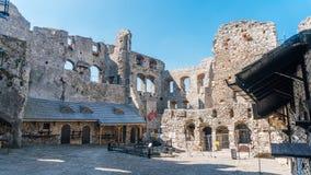 Stare grodowe ruiny Ogrodzieniec Fotografia Royalty Free