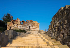 Stare Grodzkie Nessebar Antyczne ruiny Jeden Obrazy Stock