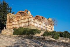 Stare Grodzkie Nessebar Antyczne ruiny Jeden Zdjęcia Royalty Free