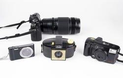 Stare i nowe kamery obraz stock