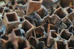 Stare i ośniedziałe kwadratowe drymby Zdjęcie Stock