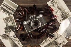 Stare kamery, ekranowych i czarny i biały fotografie, są na zmroku obrazy royalty free