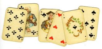 stare karty grać Zdjęcie Royalty Free
