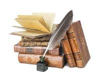 Stare książki i dutka zdjęcie royalty free