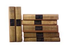 Stare książki w stercie zdjęcia royalty free