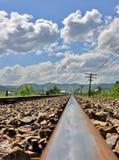 Stare linie kolejowe Obrazy Royalty Free