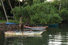 Stare małe fishers łodzie zdjęcie stock