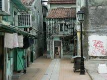 stare Macao ulicy Zdjęcia Royalty Free