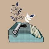 stare maszyny do pisania ilustracji