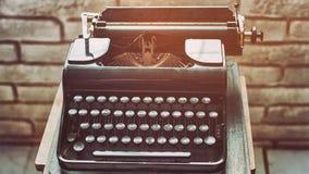 stare maszyny do pisania Rocznika maszyna do pisania zbliżenia maszynowy retro projektujący Obraz Royalty Free