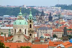 Stare Mesto (Old Town) view. Prague, Czech Republic royalty free stock image