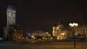 Stare mesto square prague. Night view Stock Photography