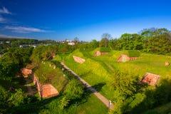 Stare miasto fortyfikacje w Gdańskim Zdjęcia Stock