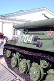 Stare militarne maszyny pokazywać w Moskwa centrum miasta Fotografia Royalty Free