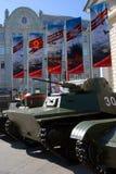 Stare militarne maszyny pokazywać w Moskwa centrum miasta Zdjęcie Stock