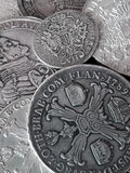 stare monety srebra Zdjęcie Royalty Free