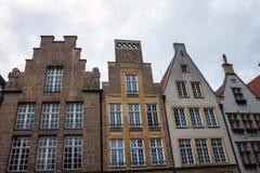 Stare monumentalne fasady w Munster Zdjęcia Royalty Free