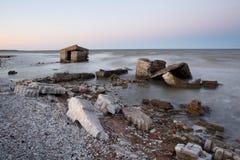 Stare nabrzeżne ruiny fotografia royalty free